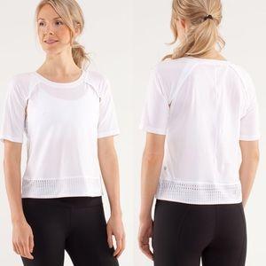 Lululemon   Sun Runner White Short Sleeve Shirt
